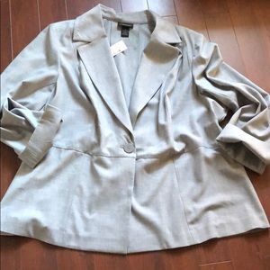 Lane Bryant tailored stretch single button Blazer